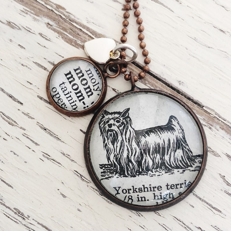 Dog Mom neclace yorkie Mom charm necklace yorshire terrier image 0