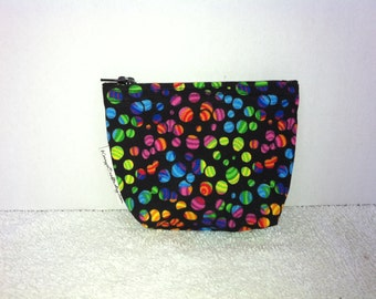 Mini Zippered Pouch-Rainbow Dot (Mini 121)