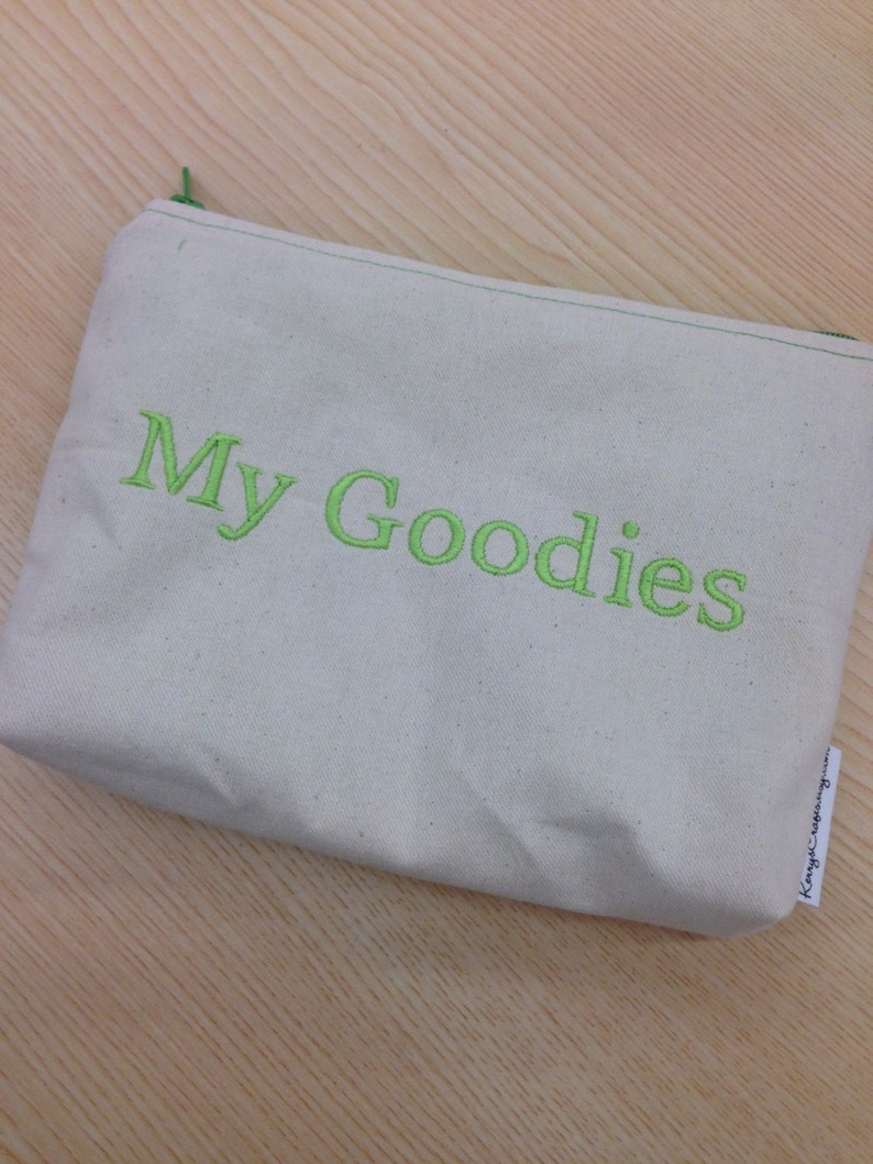 Embroidered Zipper Pouch-My Goodies (EZip 7)