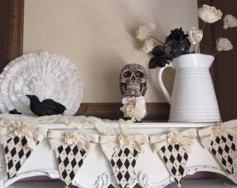 Halloween Decor, Halloween Banner, Vintage Halloween Decor, Halloween Garland, Rustic Halloween, Farmhouse Halloween, Shabby Chic Halloween