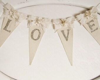 Wedding Banner, Shabby Chic Wedding Banner, Wedding Decor, Bridal Shower Banner, Bridal Shower Decor, Shabby Chic Wedding, Boho Chic Wedding