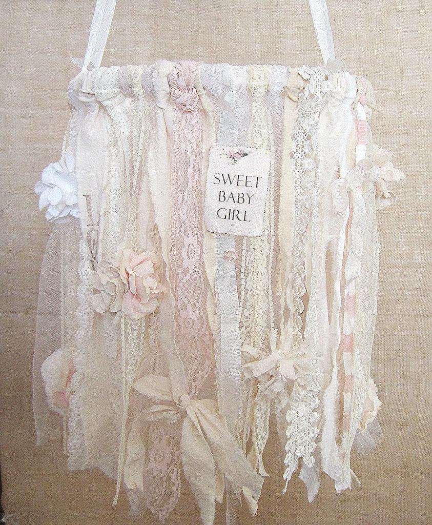 Curtains For Baby Girl Nursery: Baby Mobile Baby Girl Mobile Shabby Chic Nursery Decor