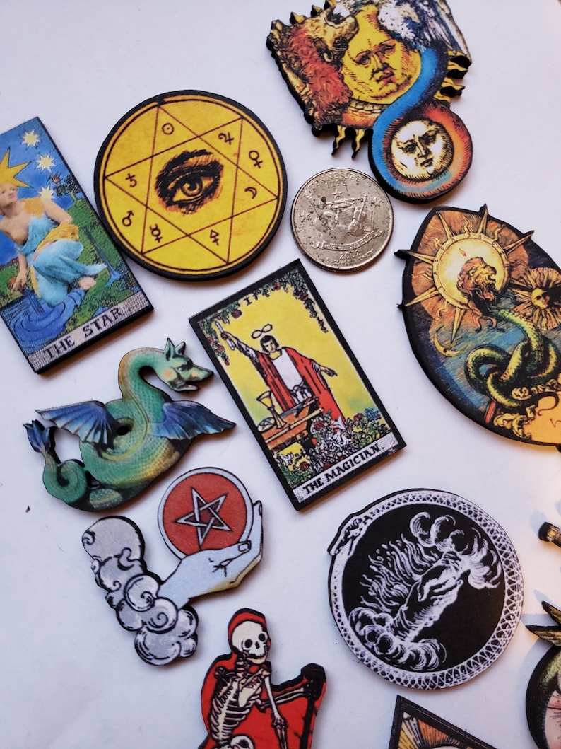 Tarot  Woodcut Jewelry  Supplies
