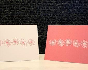 Vintage Pyrex Patterns Notecards - Pink Daisy