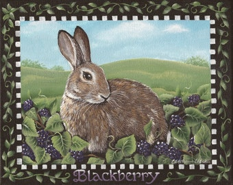 Blackberry - 8 x 10 Print of an Original Acrylic Painting by Carolee Clark