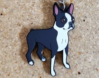 "Boston terrier keychain, boston terrier gift, key fob, boston terrier lover 2"" keychain, boston terrier mom, car accessory"