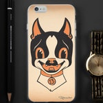 Boston terrier Halloween iPhone Case, boston terrier gift, halloween gift, halloween iphone case, boston terrier phone case