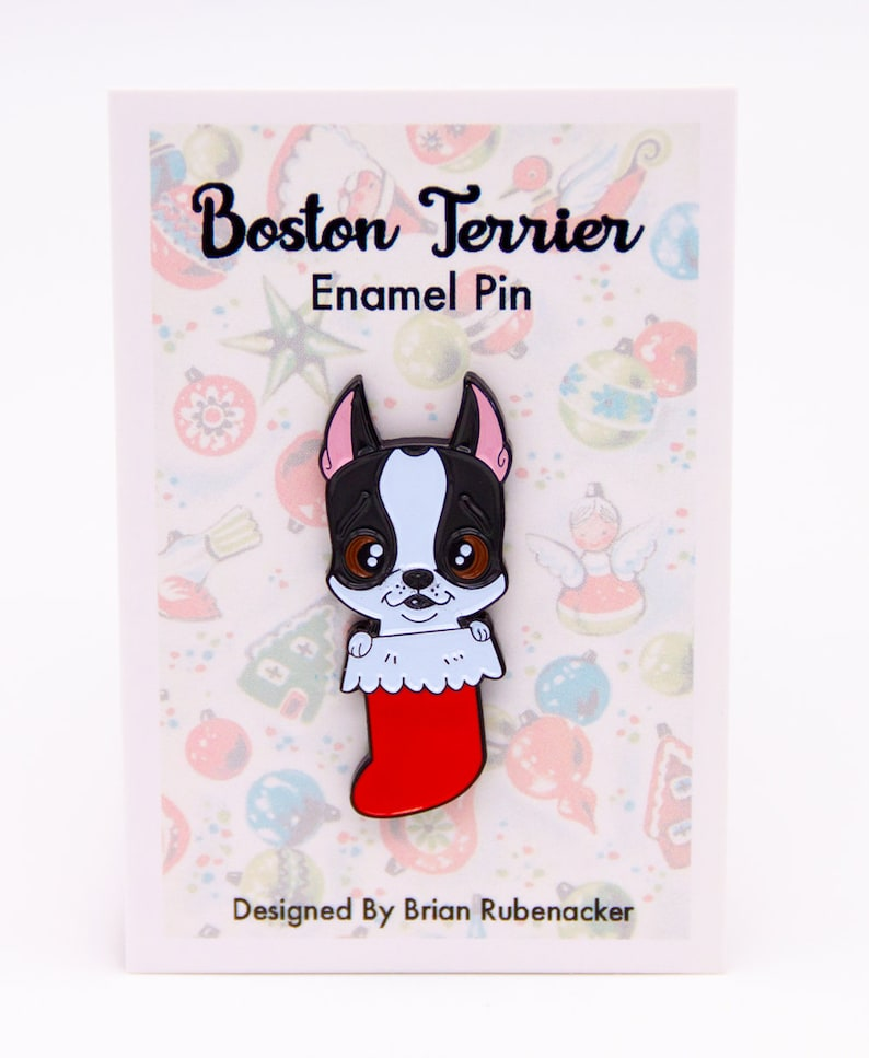 Boston terrier gift boston terrier pin boston terrier lapel image 0