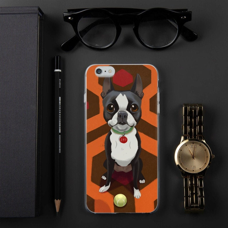Boston terrier Halloween iPhone Case boston terrier gift image 0