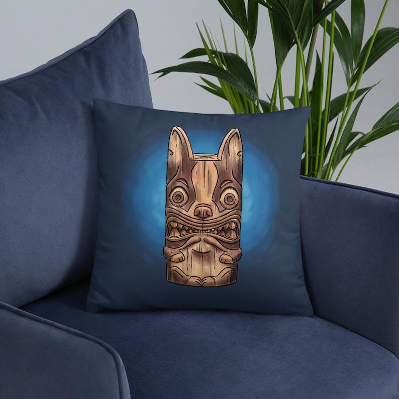 Boston terrier gift boston terrier Basic Pillow tiki pillow image 0