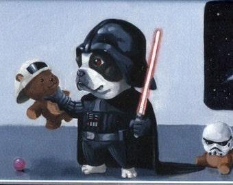 Boston terrier Darth Vader, Darth Terrier, Boston Terrier Magnet, Boston terrier gift