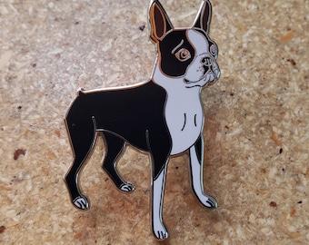 Boston terrier gift, boston terrier pin, boston terrier lapel pin, cute dog pin, boston terrier sleeping, hard enamel pin,brown red boston