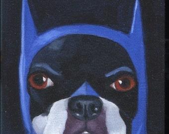 Boston terrier gift, Boston Terrier Batman Cute Dog Art Magnet, Batman dog magnet