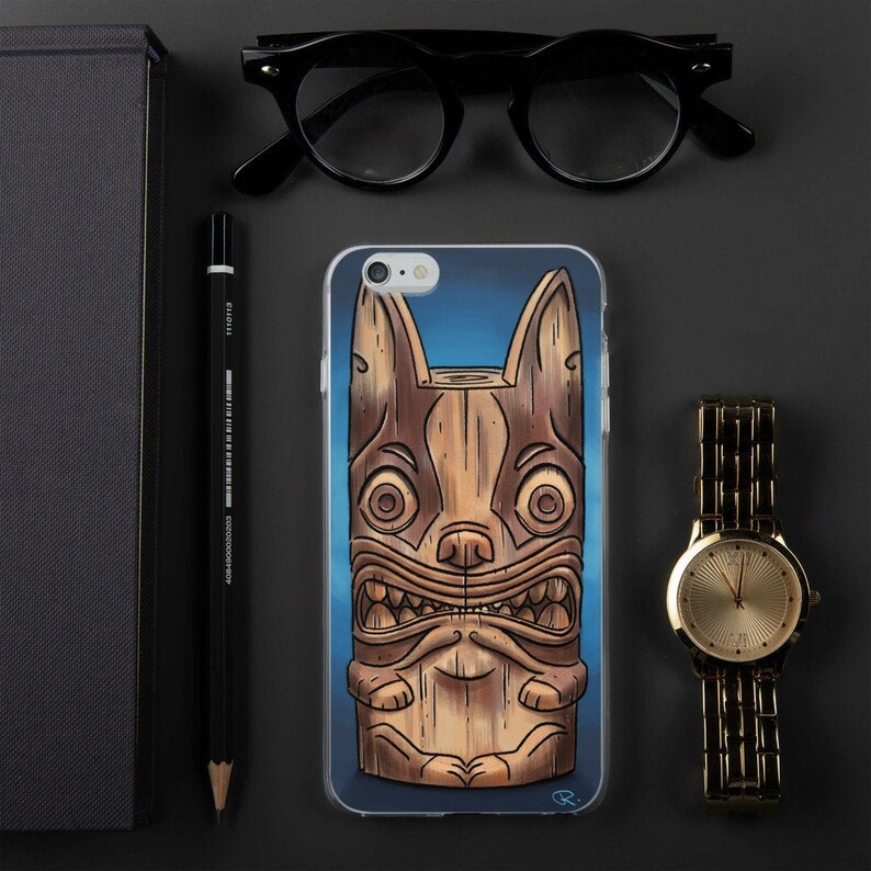 Boston terrier tiki iPhone Case boston terrier gift boston image 0