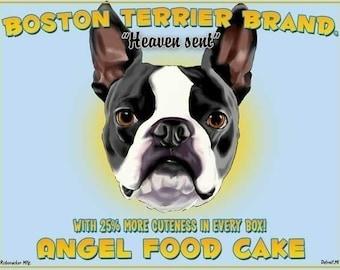 Boston Terrier Angel Food Cake