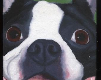 Boston terrier gift, Boston Terrier Cute Dog Art Magnet, boston terrier art, kitchen decor, boston terrier lover
