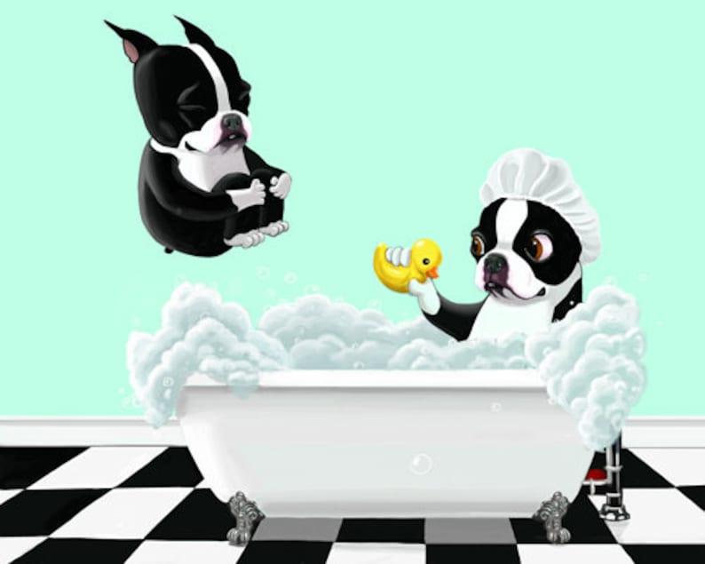 Boston Bath Time Boston Terrier gifts Boston Terrier lovers image 0