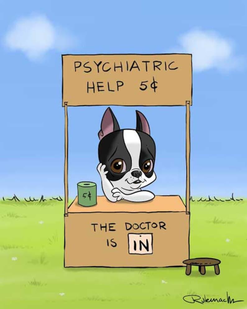 Boston Terrier psychologist Boston Terrier gifts Boston image 0