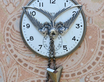 Clockwork Sparrow Necklace