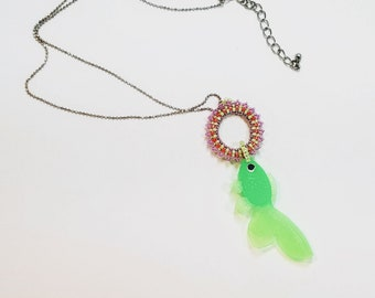 Luminescent Bubble Fish Necklace