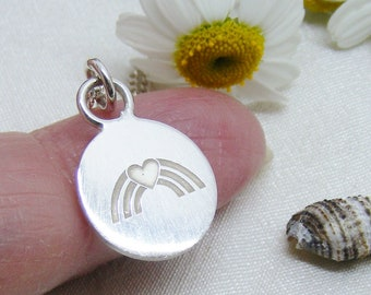 Silver NHS charity hallmarked Disc pendant, Unique charity jewellery