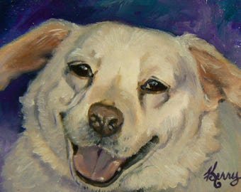 4x6 Custom Pet Portrait in oils, Horses, Dogs, Cats, any animal Original, Handpainted, Great gifts Keepsakes