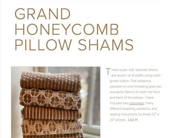 Grand Honeycomb Pillow Shams