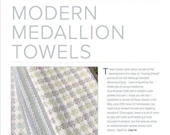 Modern Medallion Towel Pattern PDF