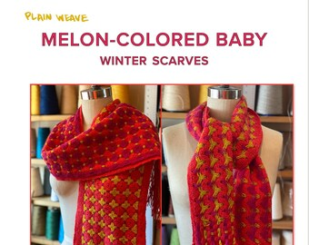 Melon-Colored Baby Scarves
