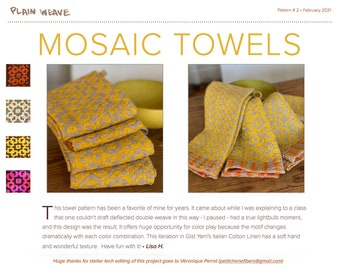 Mosaik Towel Pattern PDF