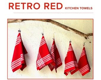 Retro Red Kitchen Towels
