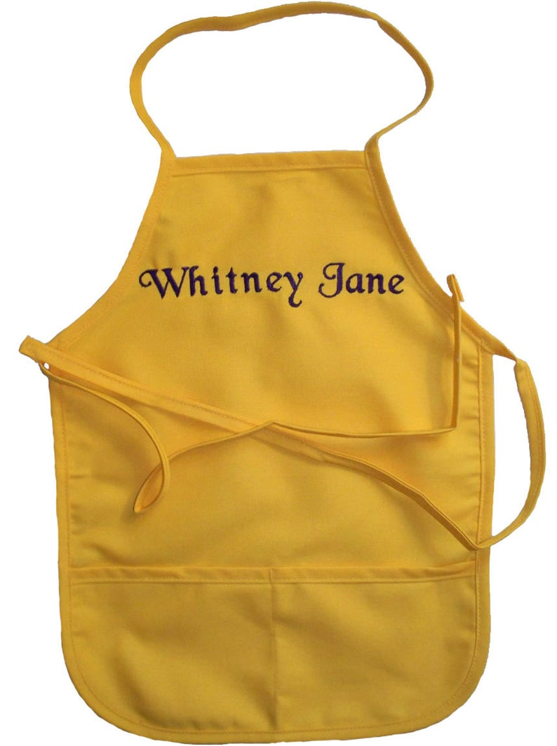 Hunter Child/'s Apron with Name Embroidered Personalized