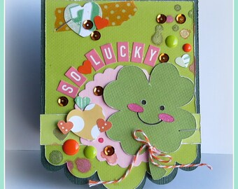 So Lucky - {greeting card and envelope}