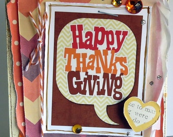 Happy Thanksgiving - {greeting card and envelope}