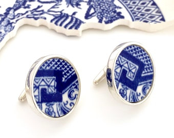 Outline Map of Jamaica Rhodium Pair Of Mens Cufflinks Cuff Links Gifts For Him