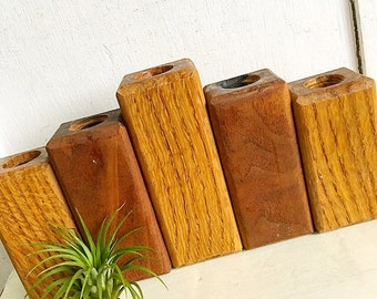 By Candle Light...Teak Wood Candlestick Candle Stick Candle Holders Candleholders Mid Century Modern Danish