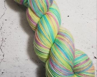 Bitch Please I'm a Unicorn on Desmos Sock Hand Dyed Yarn