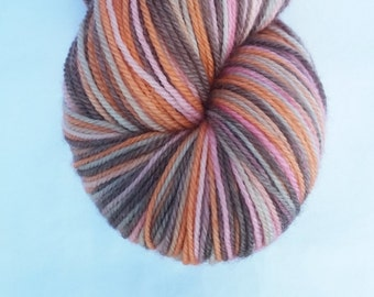 Foxy Lady on Oculus Sock - Hand dyed fingering weight yarn with cashmere