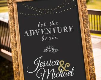 PRINTABLE - Gold Wedding Decor, Black & Gold Party Decor, Gatsby Wedding, chalkboard Wedding Sign, Hashtag Wedding Sign, Art Deco Wedding,