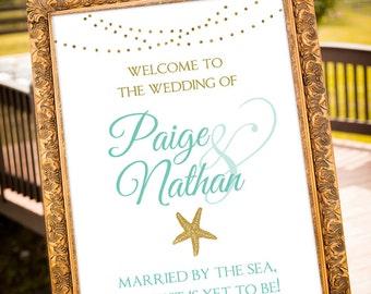 Beach wedding decor etsy beach wedding decor teal wedding decorations coral wedding decor beach sign white junglespirit Choice Image