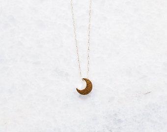 Crescent Slider Necklace