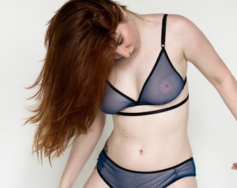 Underwear Triangular   soft cup &  brief in sheer