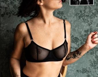 Bra underwire Coco in RED  lingerie - adjustable back underwear