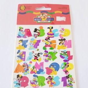 Vtg Disney Alphabet Stickers  Maxi Sandylion NIP Vintage Goofy Pluto Donald Daisy Duck Mickey Minnie Mouse Pluto MOC