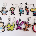 90's Nick 2D Keychain *YOU CHOOSE* Invader Zim Rugrats Ren & Stimpy Hey Arnold Ahh Real Monsters Rocko's Modern Life Nickelodeon reptar
