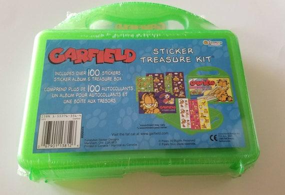 Vtg Sandylion Garfield Sticker Treasure Kit SEALED Sticker Album with Over 100 Stickers Odie Jon