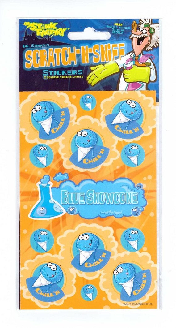 Stinky's Scratch /& Sniff Stickers Mint Condition!! Chocolate Dr