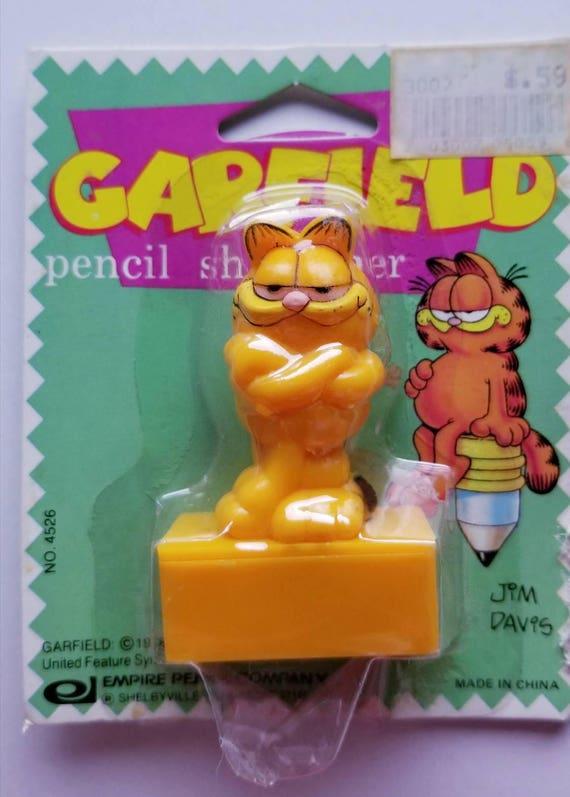 Vtg Garfield Cat Eraser Figurine NIP school office supply Jim Davis