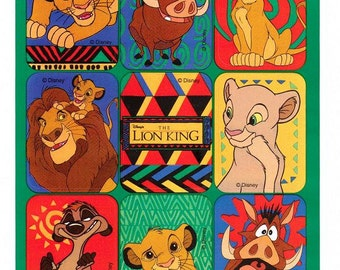 Disney's Lion King Stickers Vintage 90's by Gibson Simba Nala Mufasa Timon Pumbaa