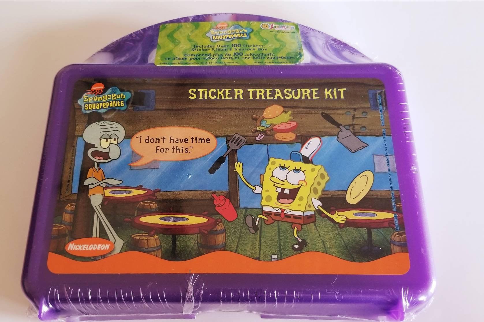 Vtg Sandylion SpongeBob Squarepants Sticker Treasure Kit SEALED Sticker  Album with Over 100 Stickers Squidward Patrick Star Nickelodeon
